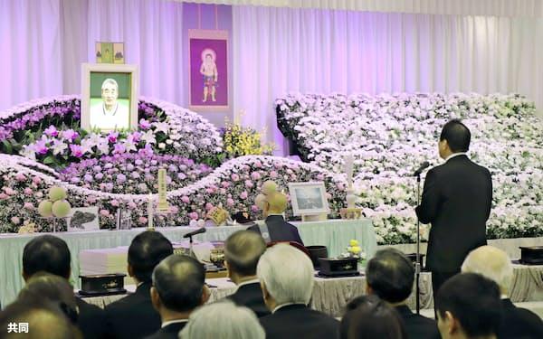しめやかに執り行われた金田正一さんの葬儀・告別式(13日、東京都内)=カネダ企画提供・共同