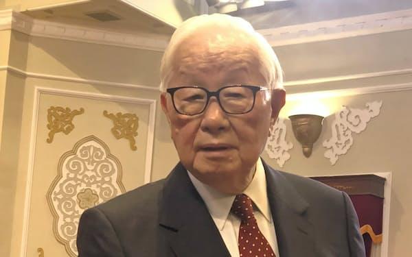 11月のAPEC首脳会議で台湾の代表に決まったTSMC創業者、モリス・チャン氏(14日、台北市)