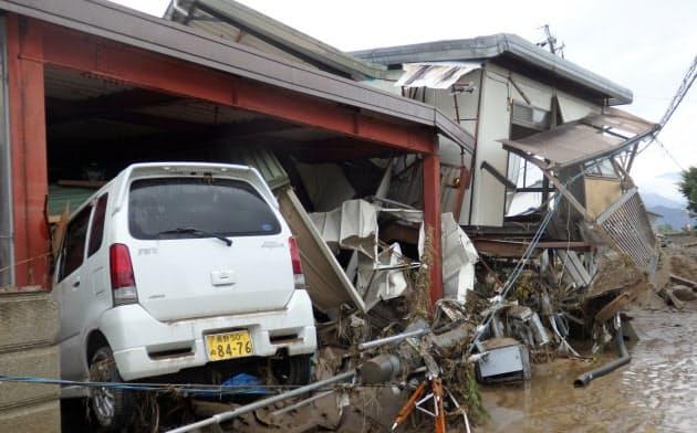 濁流で住宅流失、道路は泥の海 長野・千曲川氾濫ルポ
