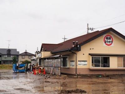 佐野らーめんの人気店「麺屋ようすけ」も浸水被害を受けた(栃木県佐野市)