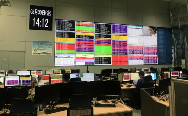 ドコモのネットワークオペレーションセンターは、全国120万もの通信装置を遠隔監視している