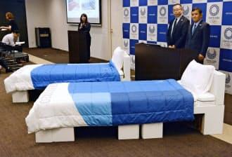 「エアウィーヴ」は東京五輪・パラリンピックのオフィシャル寝具パートナーとして、選手村で使用する寝具一式を用意する=共同
