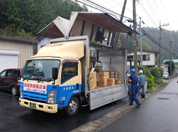 東京都は日の出町に救援物資を送った
