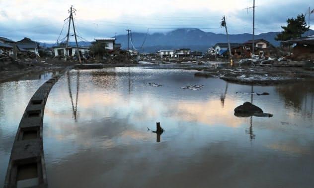 濁流で民家流失 生活に深い爪痕