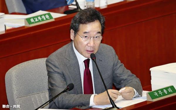 韓国の李洛淵首相=聯合・共同