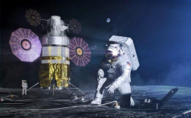 米国は2024年に宇宙飛行士の月着陸をめざしている(NASA提供)