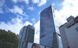 渋谷駅周辺の大規模ビルが賃料相場をけん引している