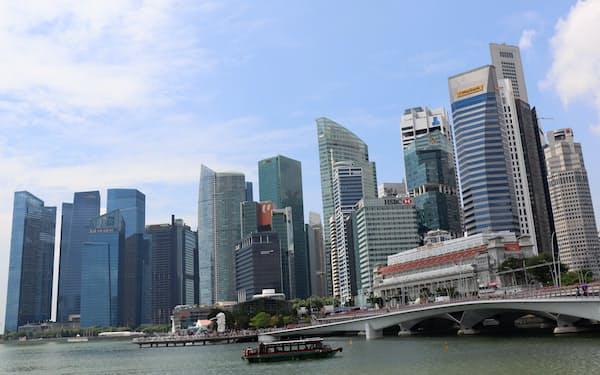 国内外の金融機関がファミリーオフィス設立支援に乗り出している(シンガポールの金融街)