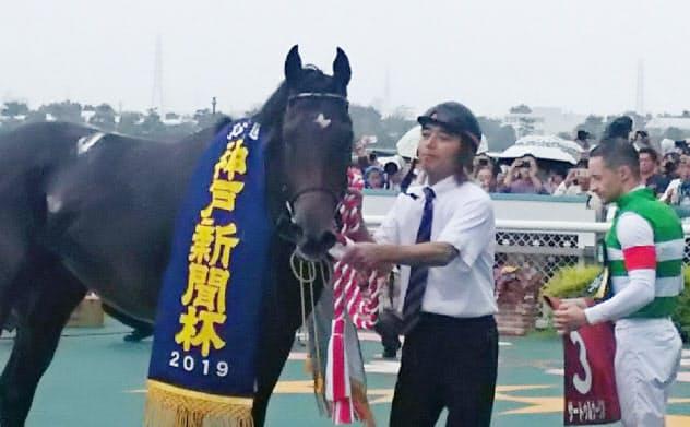 秋初戦の神戸新聞杯は圧勝だった(9月、阪神競馬場)