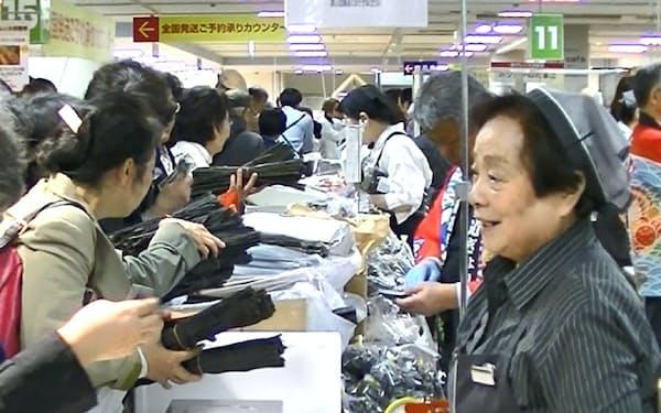 北海道ぎょれんが販売する地元産昆布も人気だった