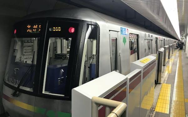 大江戸線の延伸は練馬区が強く要望している(西新宿五丁目駅)