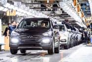 FTA妥結で自動車輸出の拡大を狙う(現代自動車の国内工場)