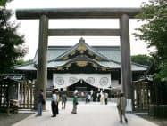 靖国神社の境内(東京・九段北)