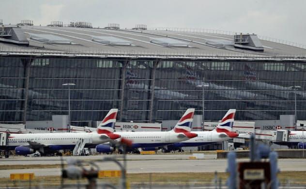 英ヒースロー空港の発着枠は限界に近づいている=AP