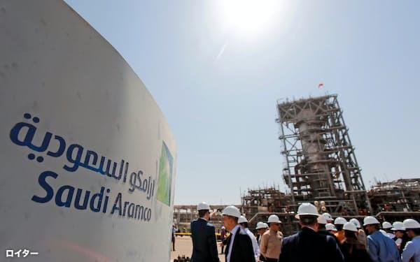 無人機やミサイルによる攻撃の後、修復されたサウジアラムコの石油施設=ロイター