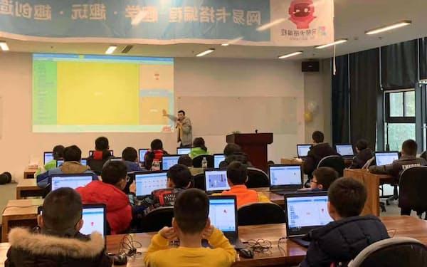 ネットイースは子供向けのAI教育の展開に力を入れる(同社が杭州で開いたイベント)
