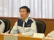 森田健作知事は復旧・復興本部の設置を指示した(17日、千葉県庁)