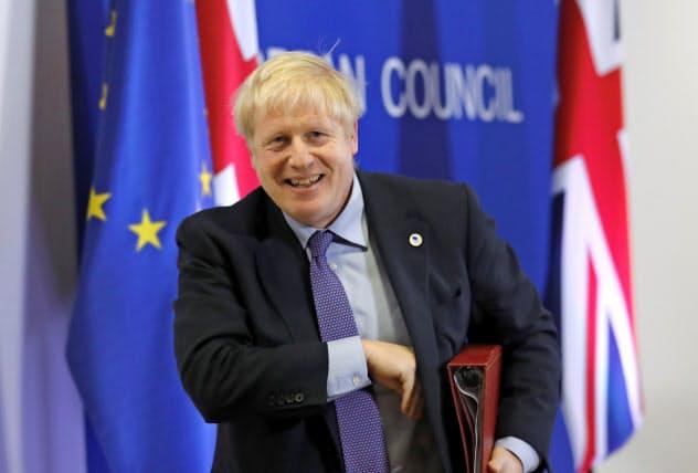 ジョンソン英首相は10月31日の離脱を国民との約束だと訴える(AP)