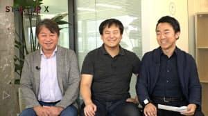 左からquantumの高松充社長、志和敏之チーフエンジニア、パナソニック インダストリアルソリューションズ社の山田亮プロジェクトマネージャー