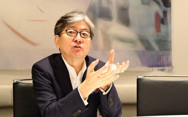 松本大マネックスグループ社長はリブラの将来性に期待を示す