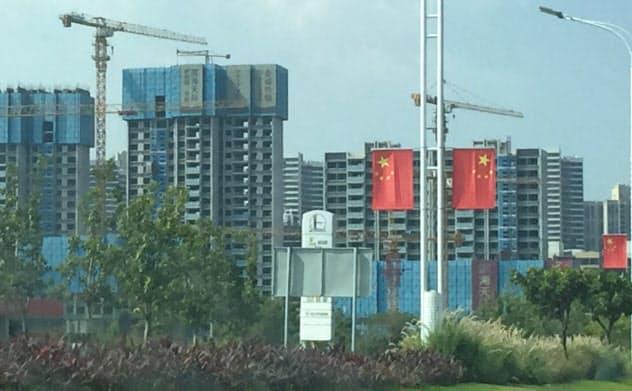 中国では景気下支えへ地方中心に建設投資が拡大している(広東省で)