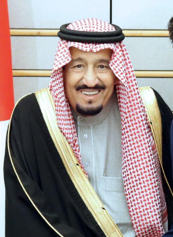 サウジアラビアのサルマン国王(2017年3月、首相官邸)