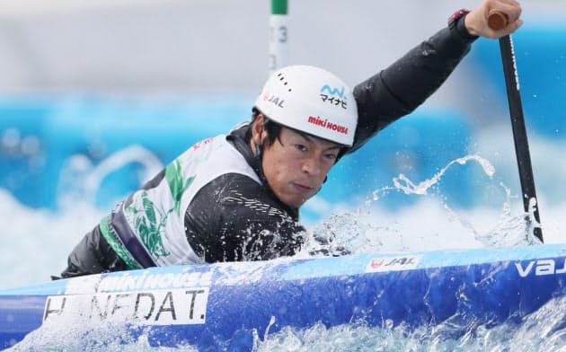男子カヌー羽根田が五輪代表、4大会連続 最終選考会