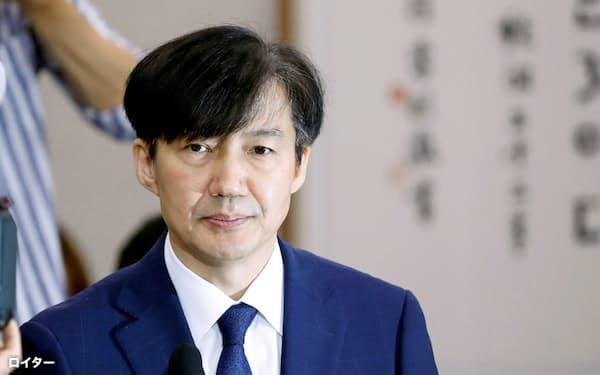 曺国・前法相の辞任後も検察は同氏周辺の捜査を継続する=ロイター
