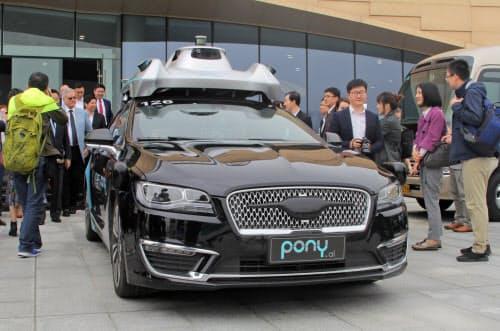 中国は国を挙げて自動運転に力を入れているため、その普及は欧米より早いとの見方が出ている。写真は、中国のポニー・エーアイの自動運転車=ロイター
