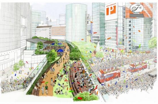緑化と遊歩道のイメージ