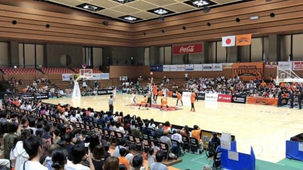 愛媛オレンジバイキングスのホーム戦観客数は増加傾向(松山市)