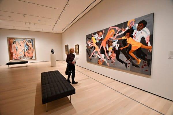 ピカソの展示室に米国人黒人女性アーティストの作品を並べて展示するなど、展示内容もリニューアルした