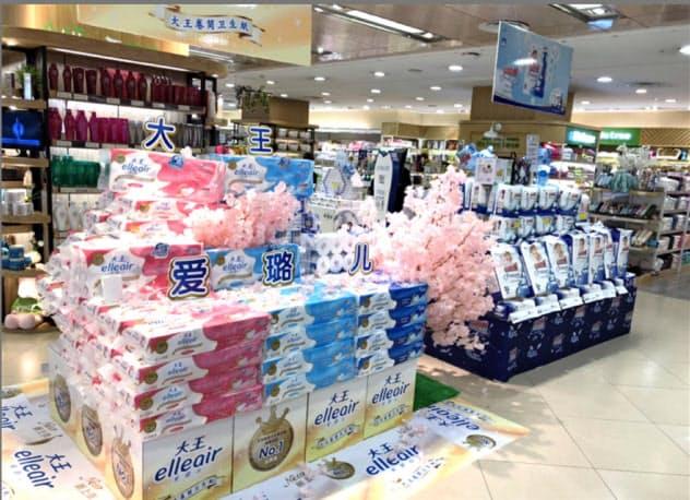 大王製紙は中国で高価格帯のトイレットペーパーを販売している