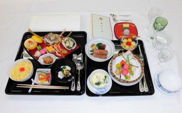22日の饗宴の儀で提供された料理=宮内庁提供