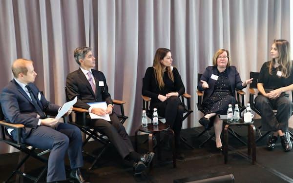 米運用関係者が日本株の投資機会について議論(22日、ニューヨーク市内)