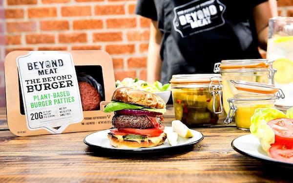 植物肉製のハンバーガー用パティがビヨンドの主力製品だ