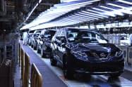 ルノーサムスンの釜山工場は稼働率を落としている=同社提供