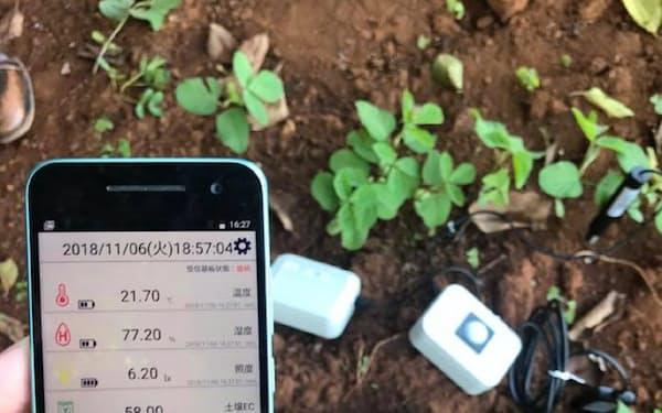 モモは土壌の養分などを管理できるシステムを安価に提供する
