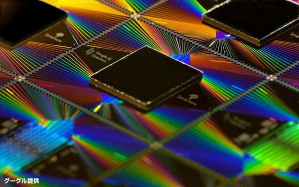 米グーグルが開発した量子コンピューター用のチップ「シケモア」=同社提供