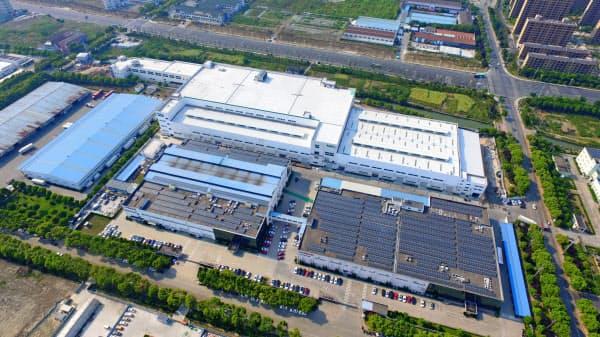 中国・浙江省にある日本電産のEV向け駆動用モーターの工場