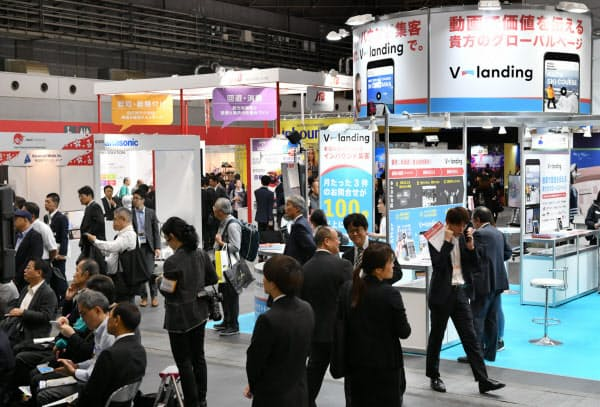 ツーリズムEXPOジャパンと同時開催している「インバウンド・観光ビジネス総合展」の会場(24日午前、大阪市住之江区のインテックス大阪)