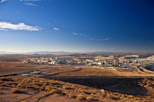 リチウムが発見された米カリフォルニア州のホウ素鉱山(リオ・ティント提供)