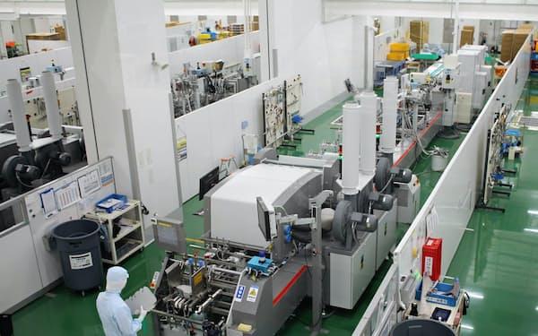 医薬品向けのパッケージでは国内シェア4割を持つ(京都府木津川市の工場)