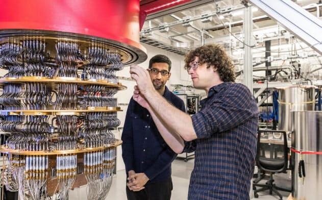 グーグルが開発した量子コンピューター=米グーグル提供