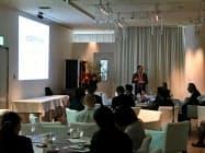 総合ディレクターの北川氏が基調講演した(25日、高松市)