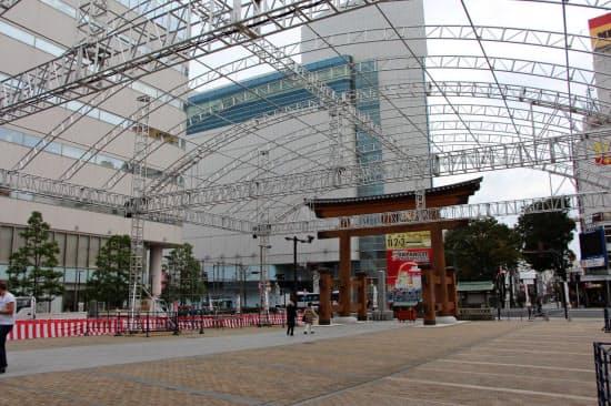 3x3ファイナルは二荒山神社の鳥居を背景に開催する(24日)