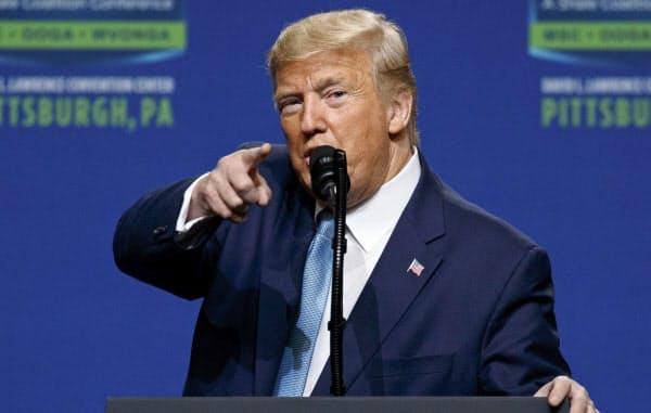 トランプ大統領は貿易赤字の縮小を切望している=AP