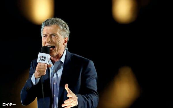 アルゼンチンのマクリ大統領(24日、コルドバ)=ロイター
