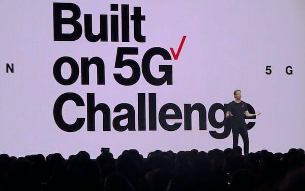 米ベライゾン・コミュニケーションズのハンス・ベストベリCEOは5Gがもたらす革命的な変化に触れた(2019年1月、米ラスベガス)
