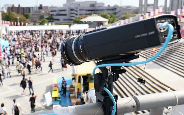 キヤノンは監視カメラ事業を強化する(18年秋に実施したラグビーの国際試合での実証実験)
